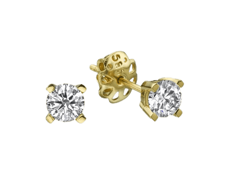 עגילי יהלום דגם דניאלה זהב-לבן או זהב-צהוב 14 קראט