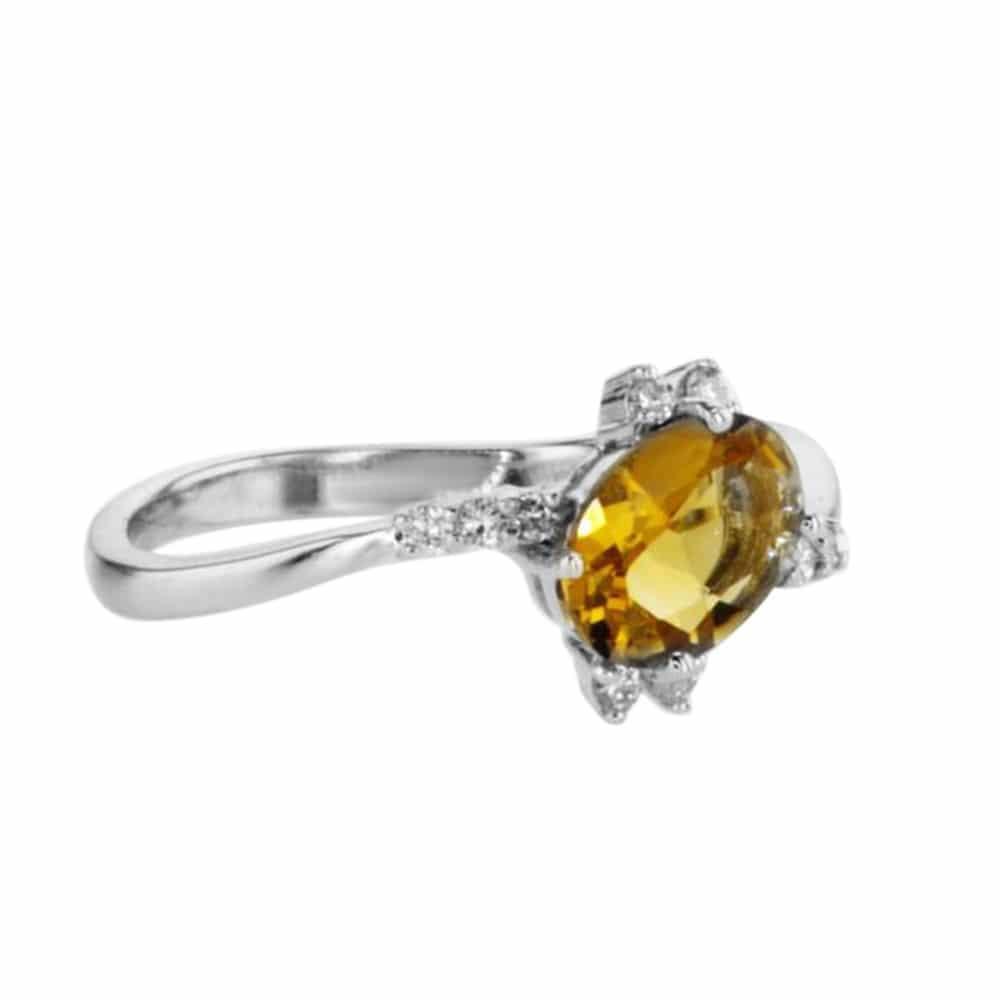 טבעת אבן סיטרין 0.74 קראט