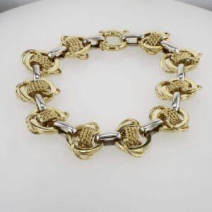 צמיד זהב נדיר בשילוב זהב צהוב ולבן 14 קראט