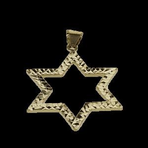 תליון מגן דוד, זהב-צהוב 14 קראט