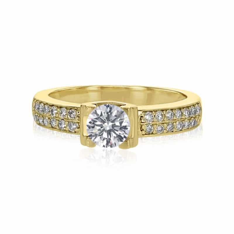 מבצע מיוחד טבעת אירוסין דגם שרי יהלום 1 קראט