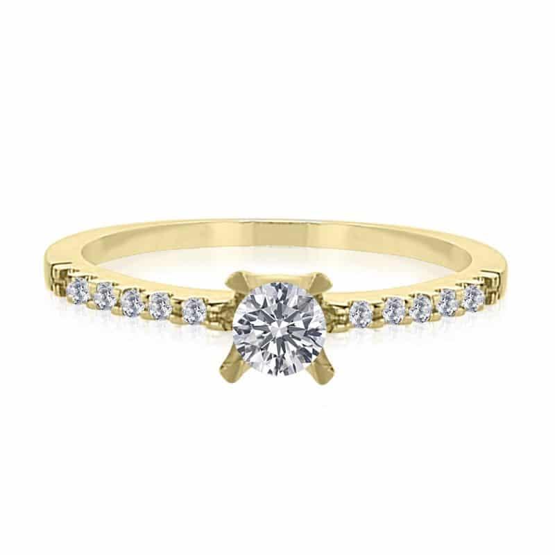 טבעת אירוסין דגם אור 0.35 קראט במבצע