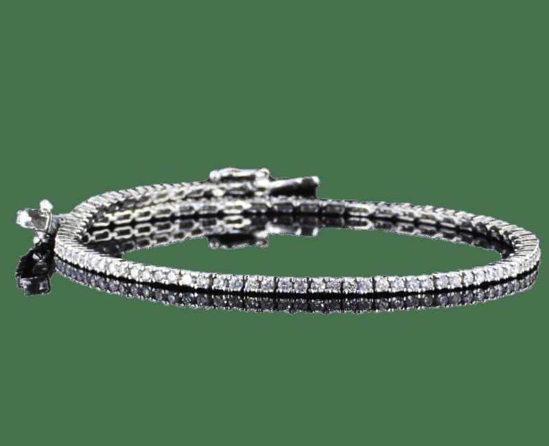 צמיד טניס יהלומים 1.25 קראט זהב לבן 14 קראט