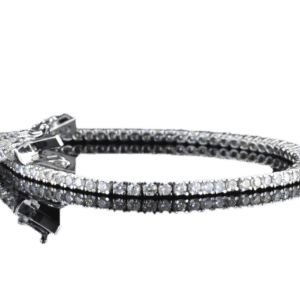צמיד טניס יהלומים 3 קראט זהב לבן 14 קראט