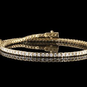 צמיד טניס יהלומים 1.5 קראט זהב-צהוב 14 קראט
