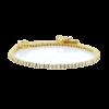 צמיד טניס יהלומים 3 קראט זהב-צהוב 14 קראט