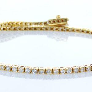צמיד טניס יהלומים 1.10 קראט זהב צהוב 14 קראט