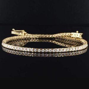צמיד טניס יהלומים 1.5 קראט זהב צהוב 14 קראט