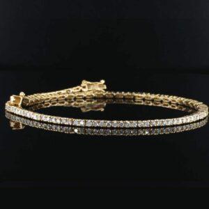 צמיד טניס יהלומים 1.25 קראט זהב צהוב 14 קראט