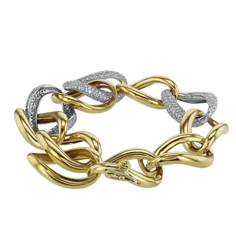 צמיד יהלומים 5.10 קראט, זהב-צהוב וזהב-לבן 18 קראט