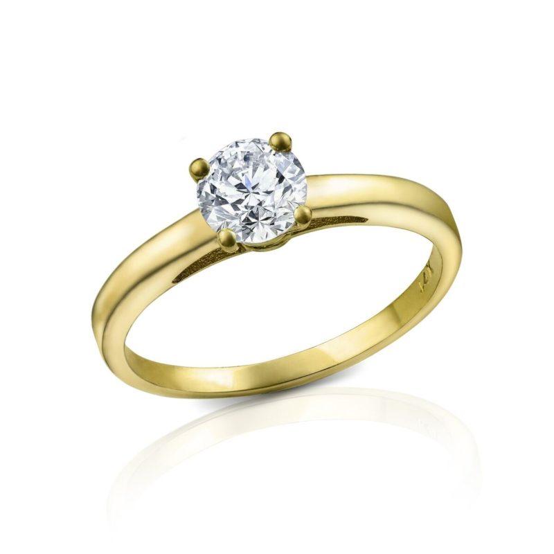 מבצע טבעת יהלום דגם דניאלה 0.50 קראט