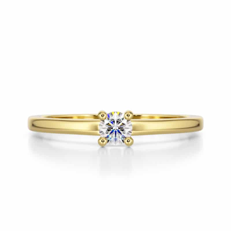 מבצע טבעת יהלום דגם דניאלה 0.20 קראט