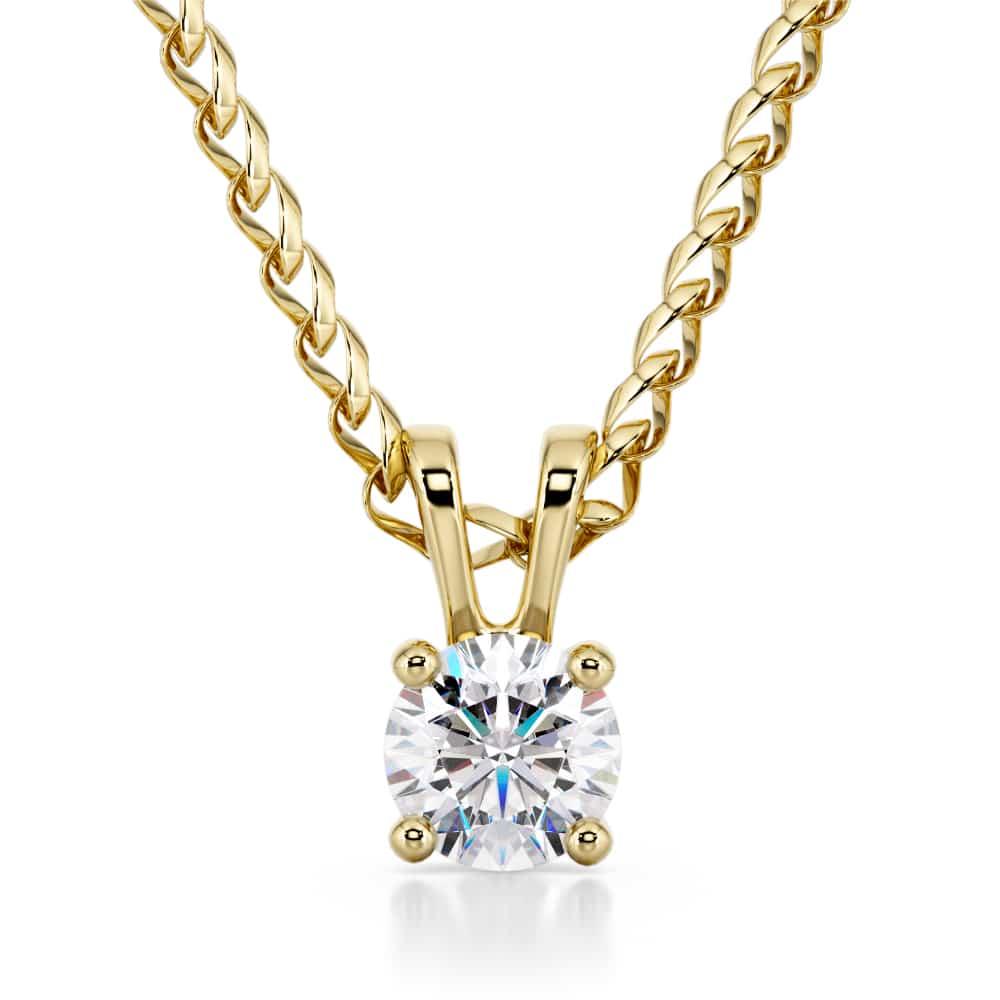 תליון יהלום, דגם דניאלה, זהב לבן או צהוב 14 קראט