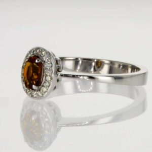 טבעת סיטרין 0.25 קראט, זהב-לבן 18 קראט, משובצת 0.11 קראט יהלומים