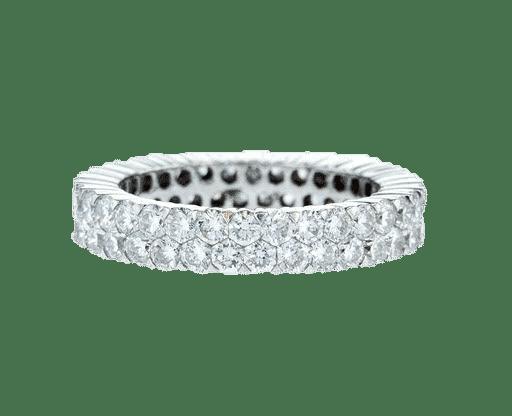 טבעת משובצת יהלומים 1.20 קראט, זהב-לבן 18 קראט