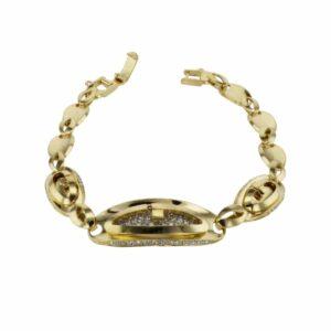 צמיד יהלומים 3.24 קראט, זהב צהוב 14 קראט
