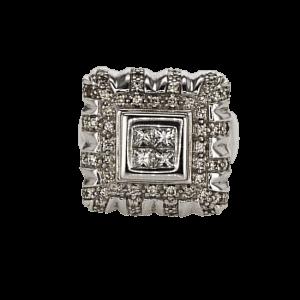 1.41 carat white Gold Ring set with 18 carat Diamonds