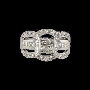1.48 carat white Gold Ring set with 18 carat Diamonds