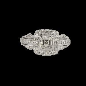 18 karat White Gold Ring, set with Diamonds
