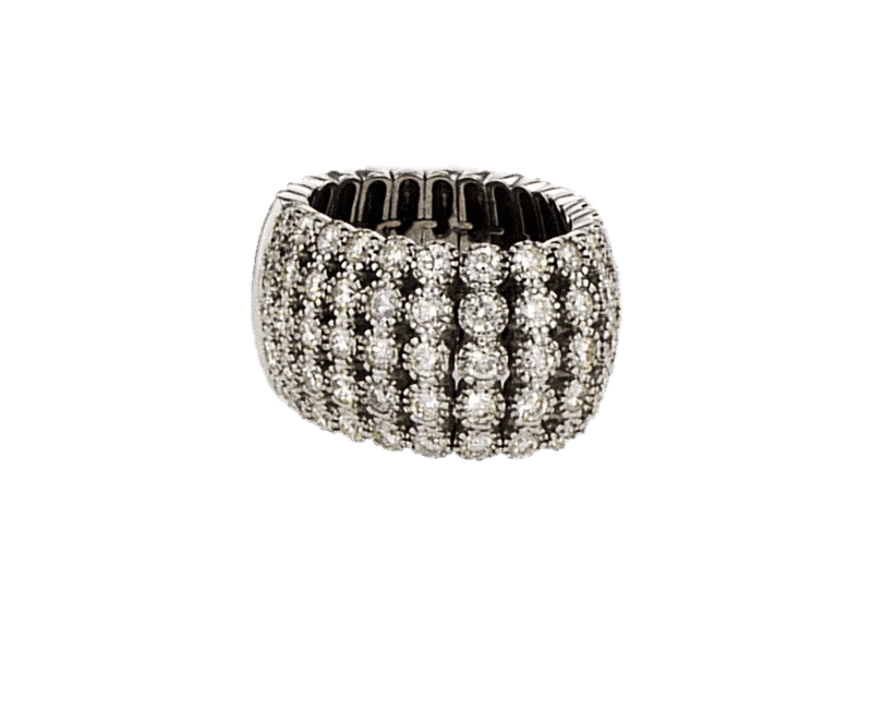 טבעת טניס משובצת יהלומים 3.36 קראט, זהב-לבן 18 קראט