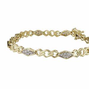 צמיד יהלומים 0.75 קראט, זהב-צהוב 14 קראט