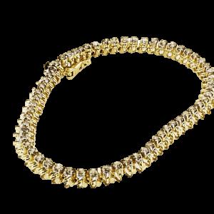 צמיד יהלומים 3.00 קראט, זהב-צהוב 14.10 קראט