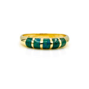 טבעת אבן אילת, זהב-צהוב 14 קראט