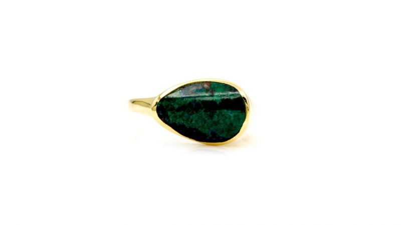 Eilat Gemstone Ring, 14 karat yellow Gold