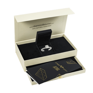 Elegant packaging when buying jewelry